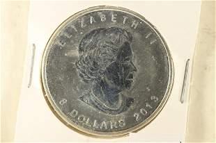 2013 CANADA 1 1/2 OZ. .9999 SILVER POLAR BEAR $8