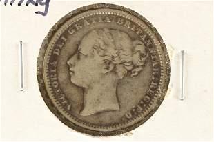 1884 GREAT BRITAIN SILVER SHILLING .1682 OZ. ASW