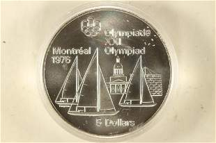 1973 CANADA MONTREAL 1976 OLYMPIC SILVER UNC $5