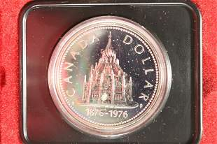 1976 CANADA LIBRARY OF PARLIAMENT PF SILVER DOLLAR