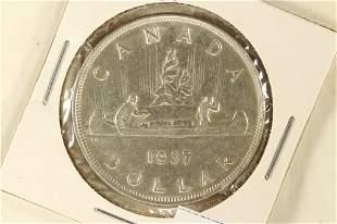 1937 CANADA SILVER DOLLAR AU .6000 OZ. ASW