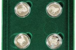 1997 CANADA STERLING SILVER 50 CENT 4 COIN SET