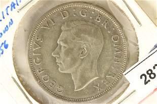 1941 GREAT BRITAIN SILVER HALF CROWN .2273 OZ. ASW