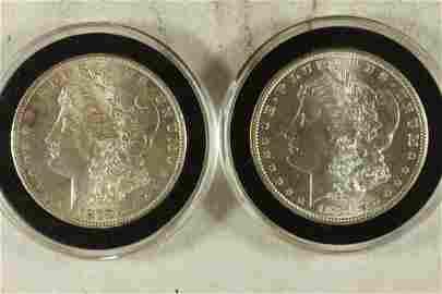 1879-S & 1881-S MORGAN SILVER DOLLARS BOTH BU'S