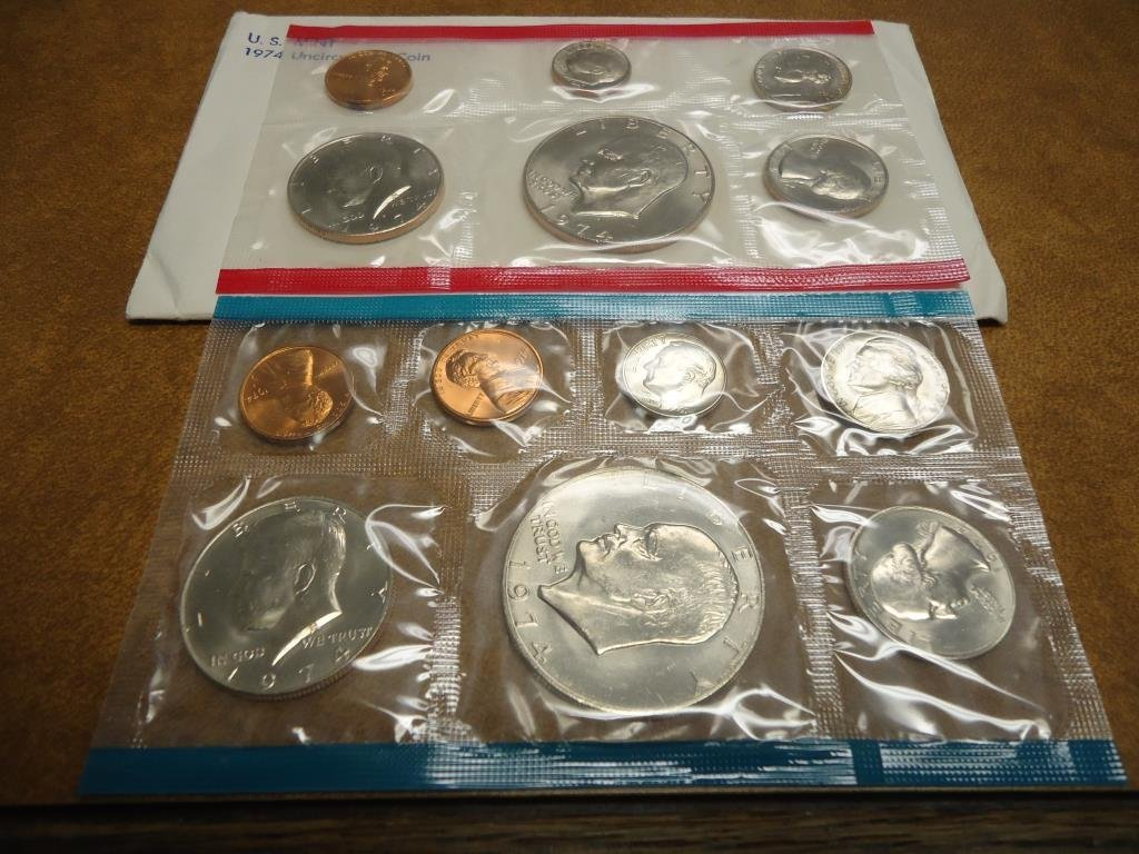 1974 US MINT SET (UNC) P/D/S (WITH ENVELOPE) THIS IS AN