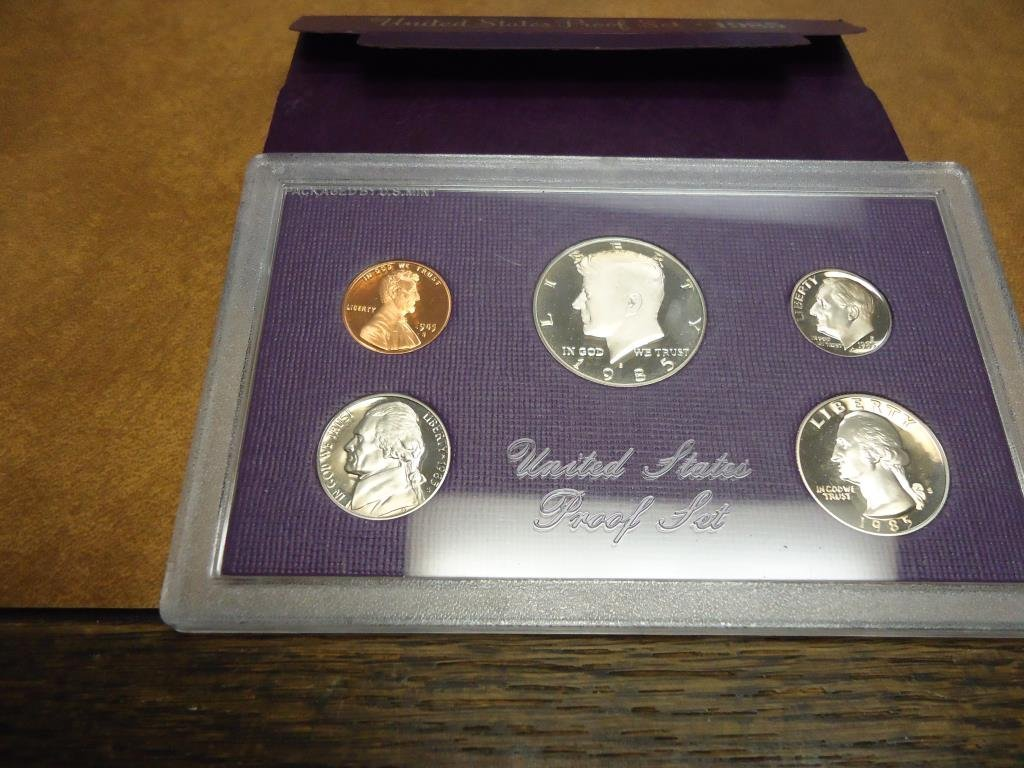 1985 US PROOF SET (WITH BOX)