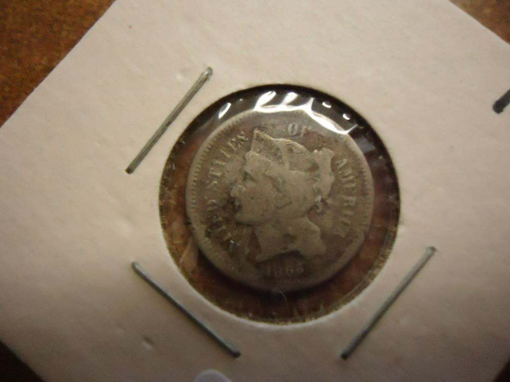1866 THREE CENT PIECE (NICKEL)
