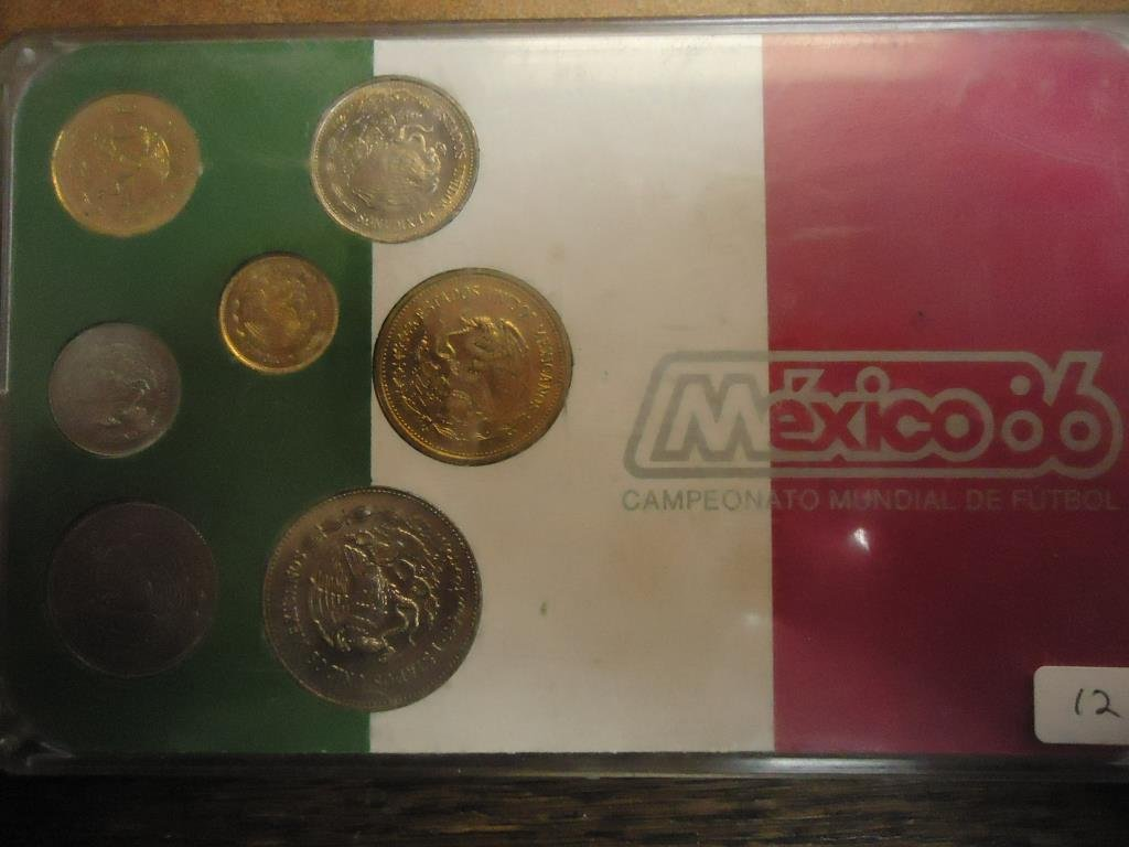 1985 MEXICO FUTBOL 86 UNC SET