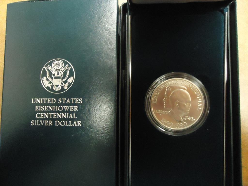 1990-W EISENHOWER CENTENNIAL UNC SILVER DOLLAR ORIGINAL