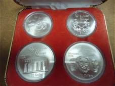 1976 CANADA MONTREAL 4 COIN UNC SILVER SET CONTAINS