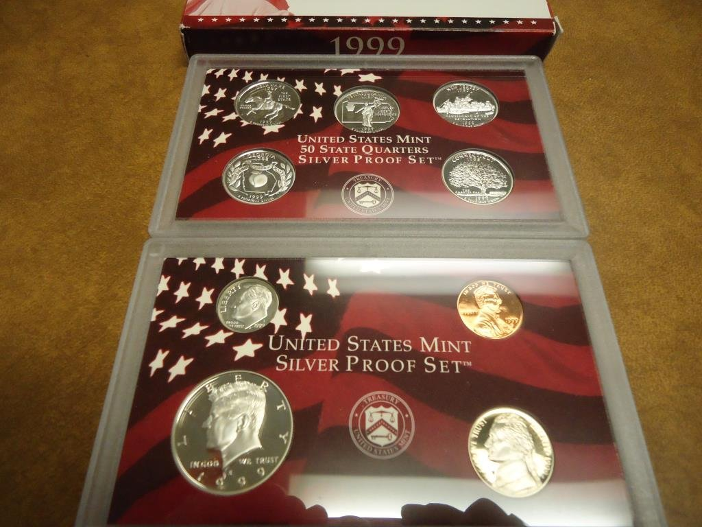 1999 US SILVER PROOF SET (WITH BOX) BETTER DATE SET