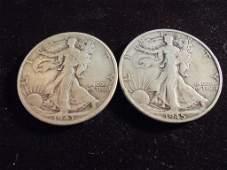1943  1945 WALKING LIBERTY HALF DOLLARS