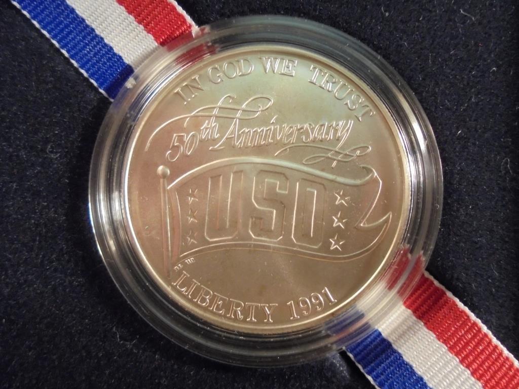 1991-D USO UNC SILVER DOLLAR ORIGINAL US MINT PACKAGING