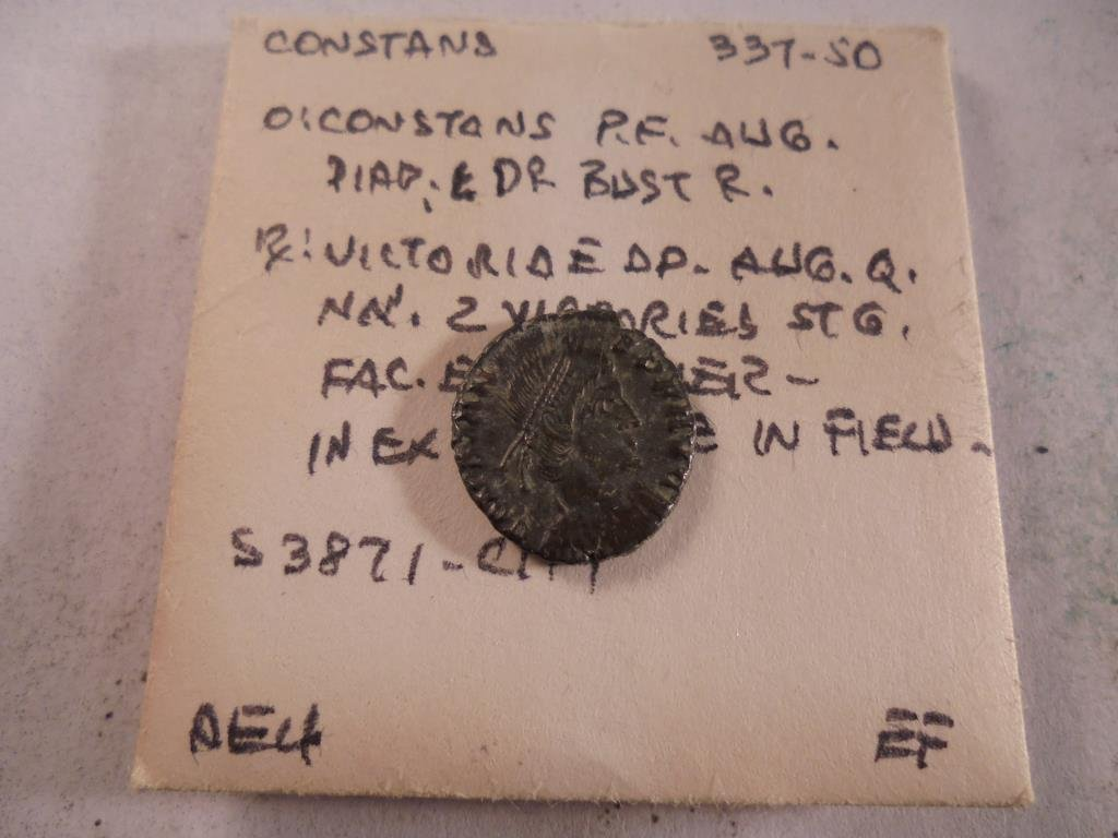 337-350 A.D. CONSTANCE ANCIENT COIN EXTRA FINE