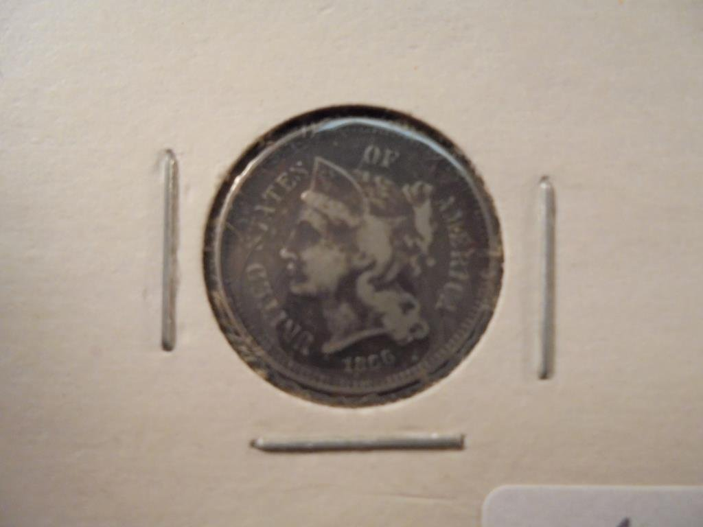 1866 THREE CENT PIECE (NICKEL)