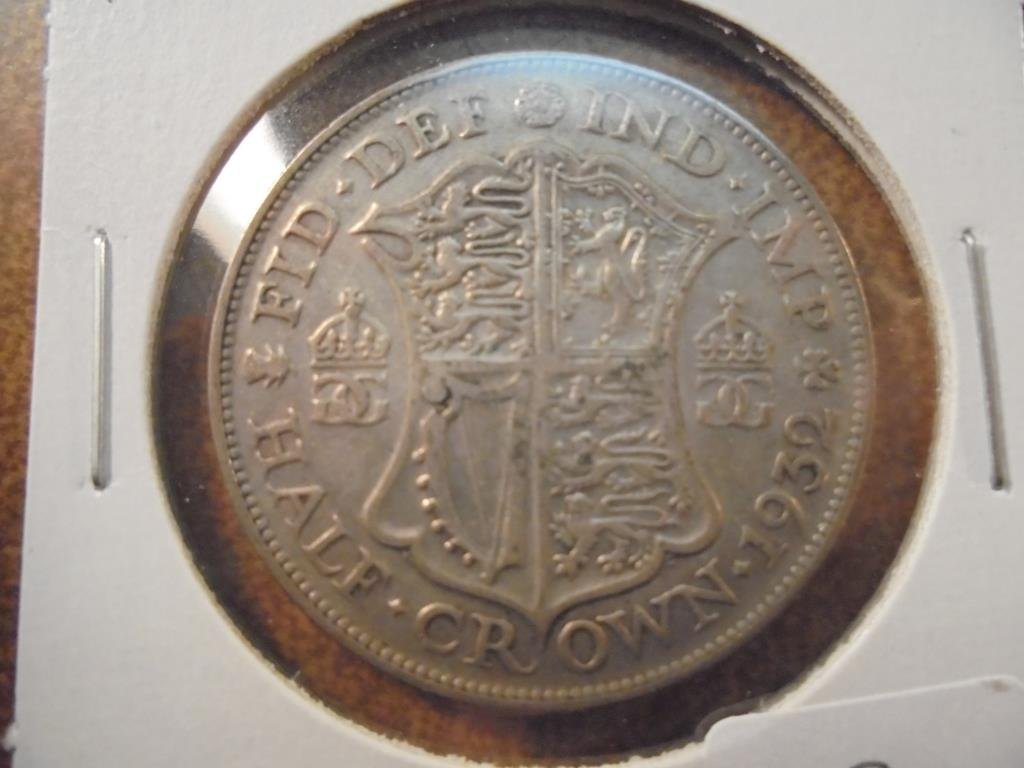 1932 GREAT BRITAIN SILVER HALF CROWN