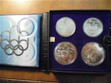 1976 MONTREAL CANADA SILVER PROOF 4 COIN SET CONTAINS: