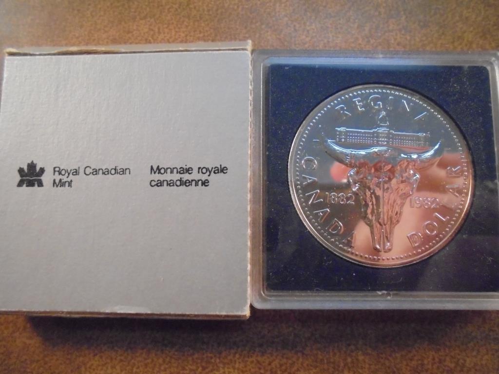 1982 CANADA REGINA SILVER DOLLAR PROOF ORIGINAL ROYAL