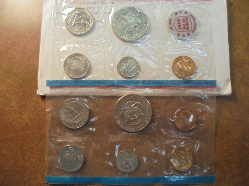 1971 US MINT SET (UNC) P/D/S (WITH ENVELOPE) THIS IS AN