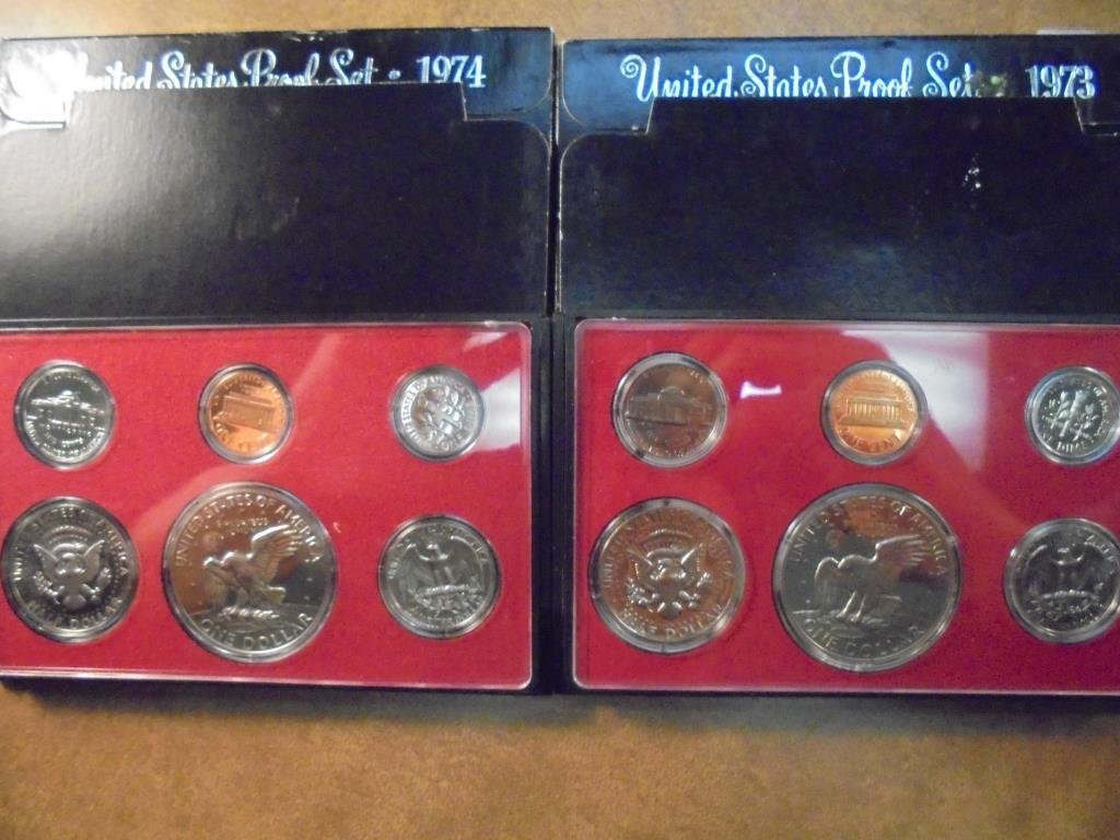 1973 & 1984 US PROOF SETS (WITH BOXES)