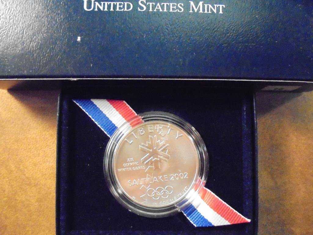 2002-P OLYMPIC WINTER GAMES UNC SILVER DOLLAR ORIGINAL