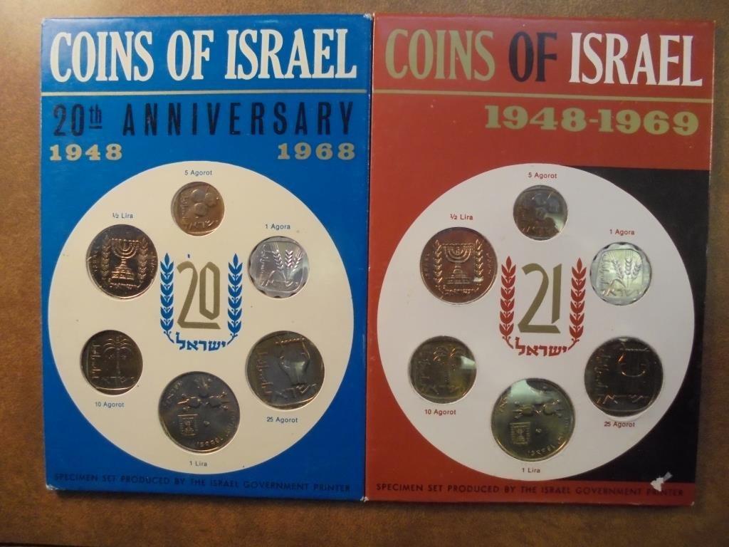 1968 & 1969 JERUSALEM SPECIMEN SETS ORIGINAL MINT