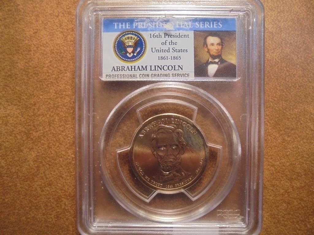 2010-D ABRAHAM LINCOLN DOLLAR PCGS MS66 POS. A 1ST DAY