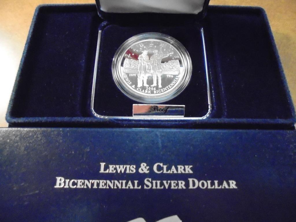 2004-P LEWIS & CLARK PROOF SILVER DOLLAR ORIGINAL US