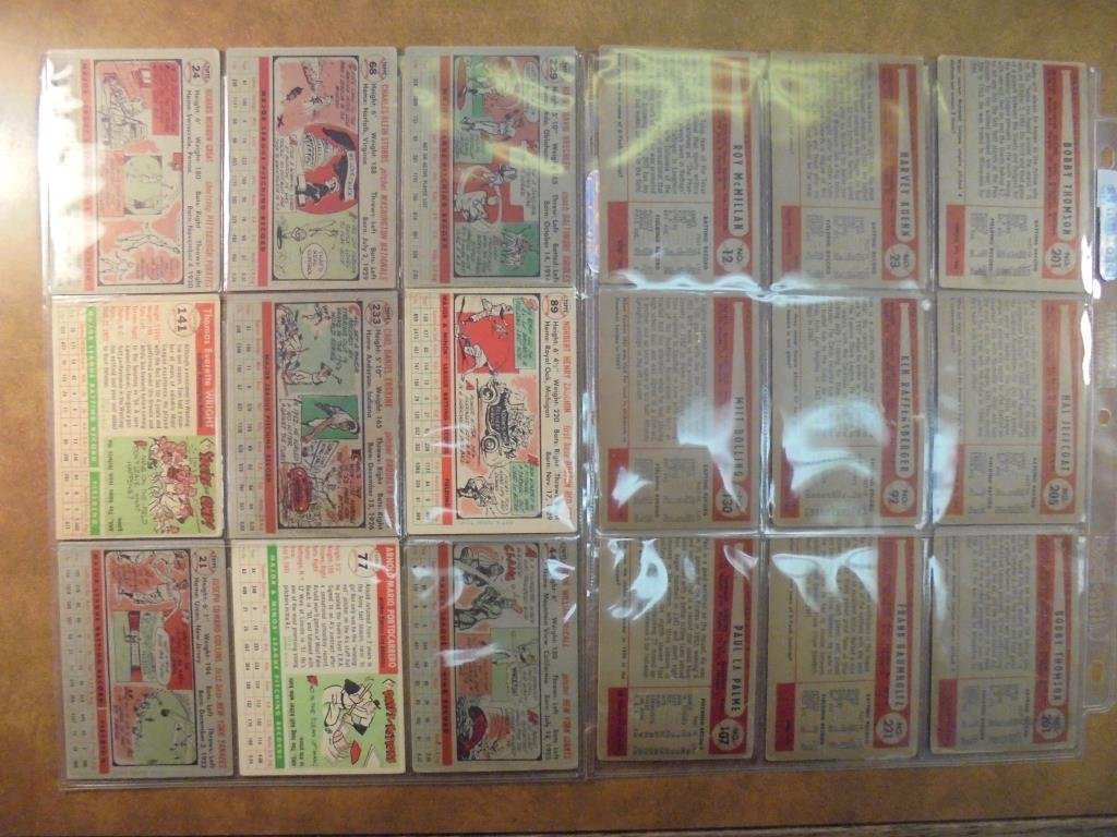 9-1954 BOWMAN AND 9-1956 TOPPS BASEBALL CARDS 1954 - 2