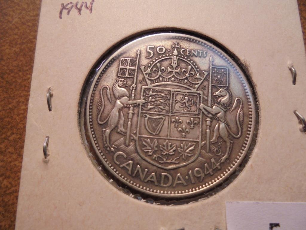 1944 CANADA SILVER 50 CENTS