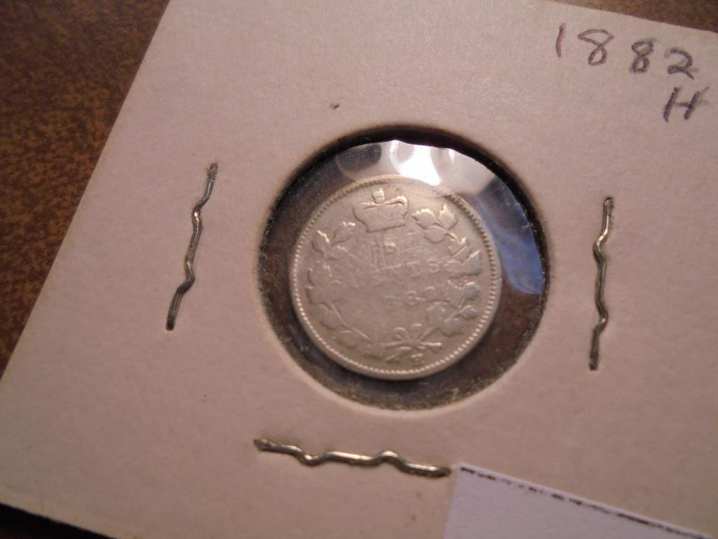 1882-H CANADA SILVER 5 CENTS