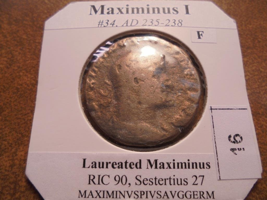 235-238 A.D. MAXIMINUS I ANCIENT COIN (FINE)