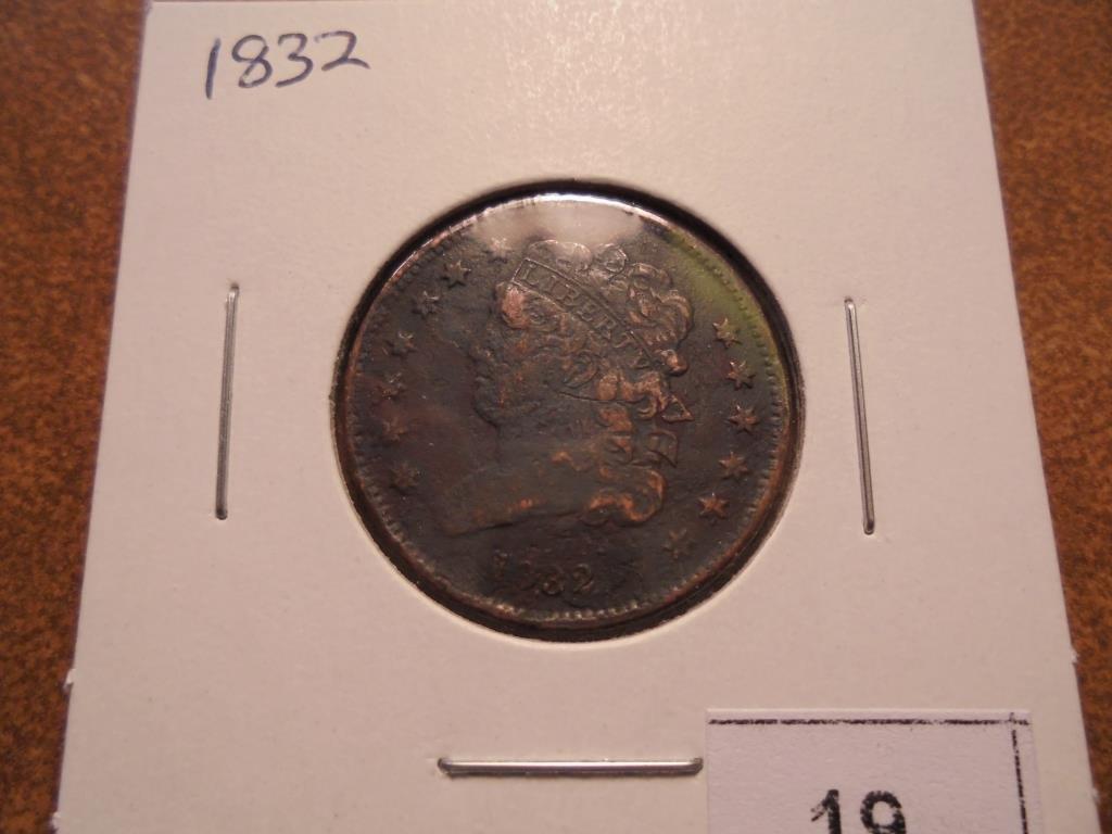 1832 US HALF CENT