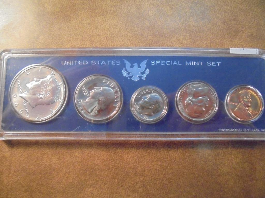 1966 US SPECIAL MINT SET WITHOUT BOX 40% SILVER JOHN F.