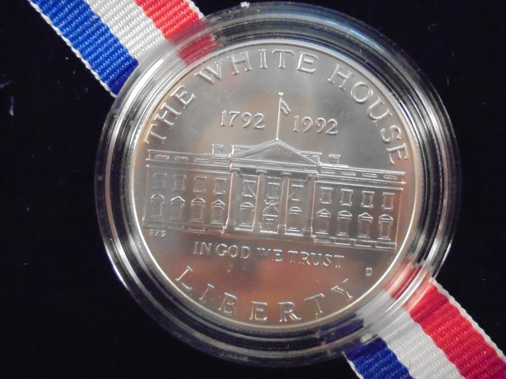 1992-D WHITE HOUSE UNC SILVER DOLLAR ORIGINAL US MINT