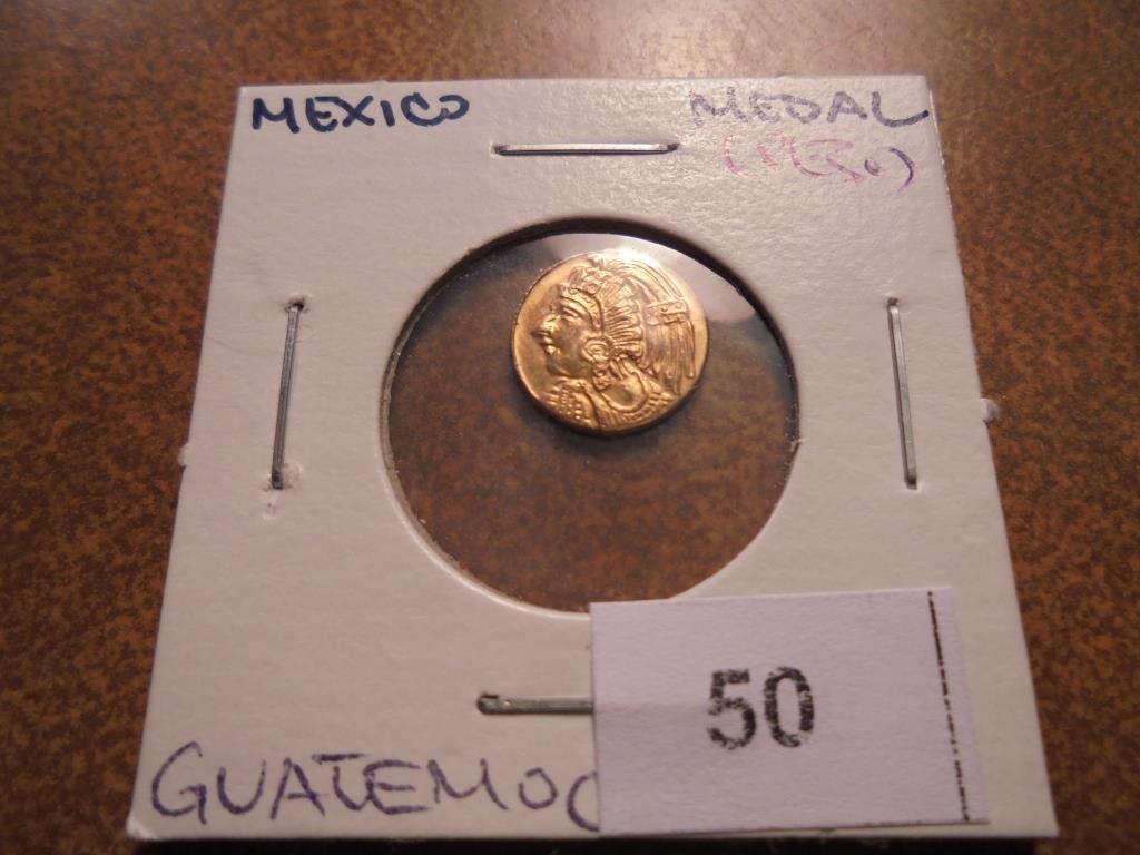 "GOLD MEXICO FANTASY ""PESO"" MEDAL"