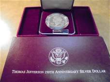 1993-S THOMAS JEFFERSON 250TH ANNIVERSARY PROOF SILVER