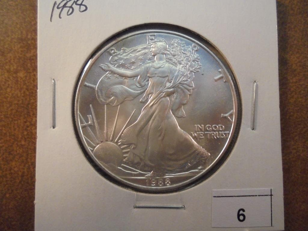 1988 AMERICAN SILVER EAGLE UNC