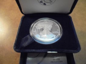 2004-w American Silver Eagle Proof Original Us Mint