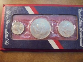 1976-s Us Bicentennial Silver Unc Set Original Us Mint