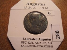27 B.c.-14 A.d. Augustus Ancient Coin
