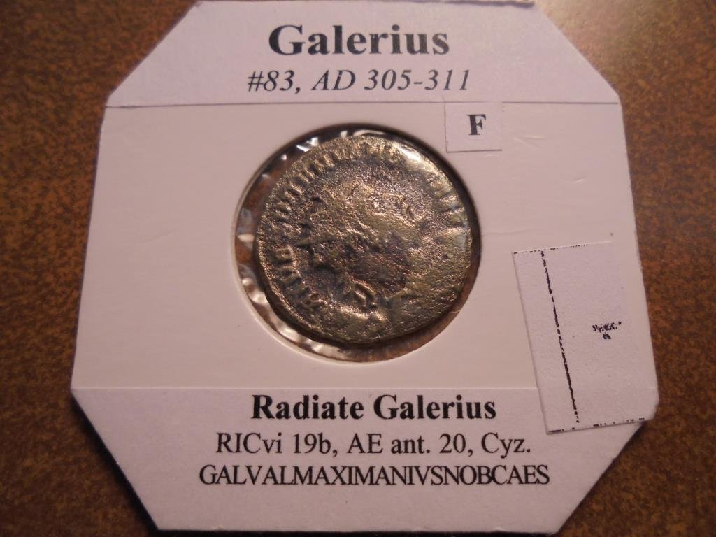 305-311 A.D. GALERIUS ANCIENT COIN (FINE)