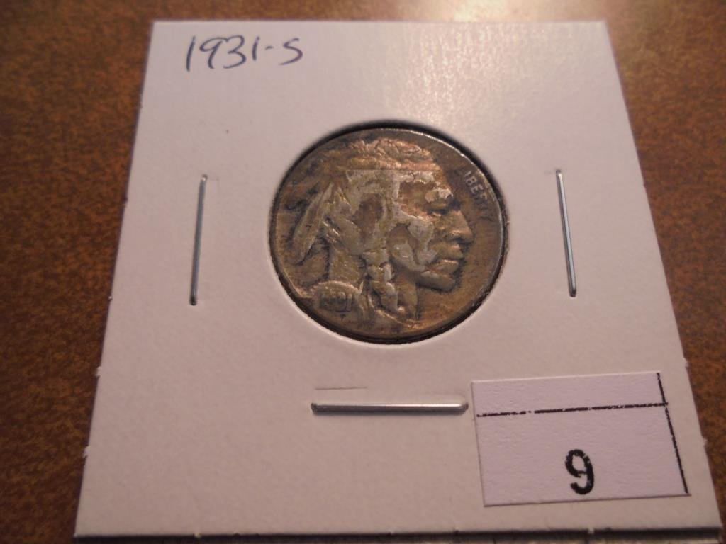 1931-S BUFFALO NICKEL (SEMI-KEY)