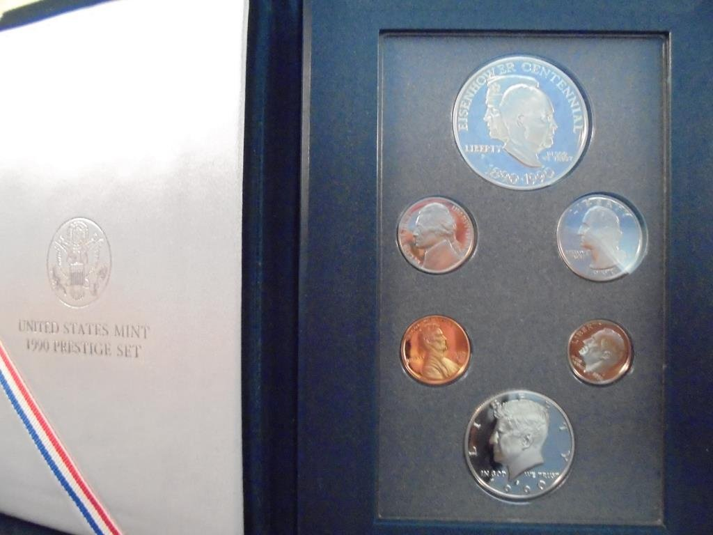 1990 US PRESTIGE PROOF SET EISENHOWER CENTENNIAL,