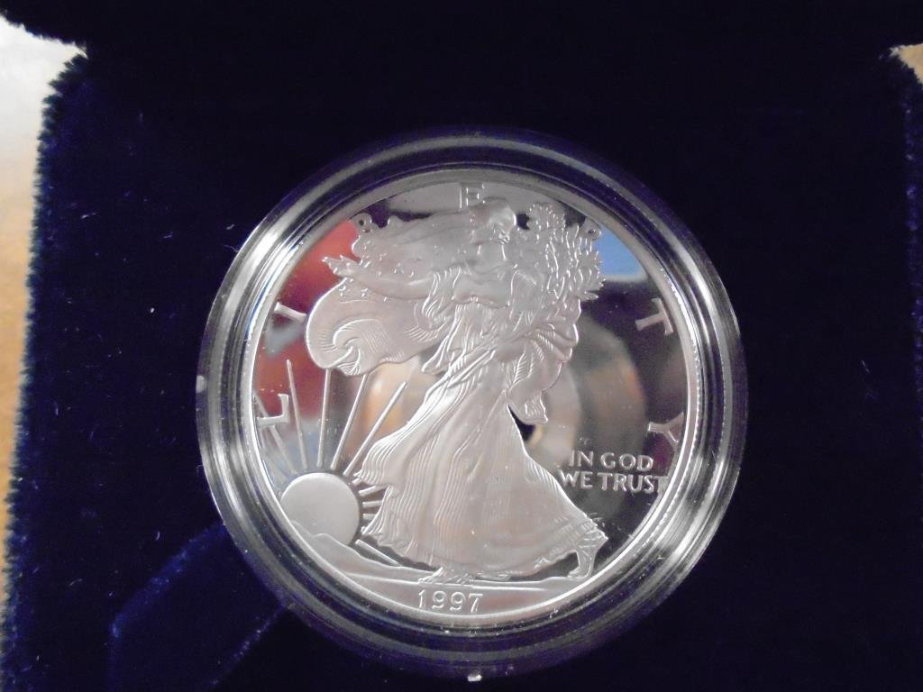 1997-P AMERICAN SILVER EAGLE PROOF ORIGINAL US MINT