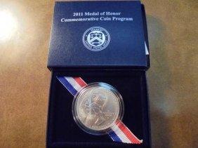 2011-s Medal Of Honor Unc Silver Dollar Original Us