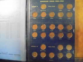 Complete 1920-1969 Canadian Small Cent Set 54 Coins