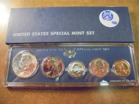 1967 Us Special Mint Set With Box 40% Silver John F.