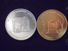 """2-2"""" Medals Homestead National Monument """"silver"""