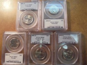All 5-2006-d Us 50 State Quarters All Pcgs Ms67's